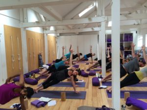 Lisa Walford teaching at Tri Yoga