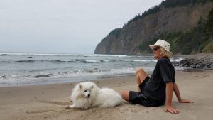 Ross and Sita at Cape Lookout